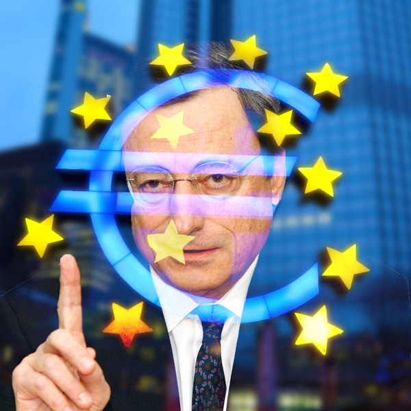 Mario Draghi, President of the ECB issues warning to his peers