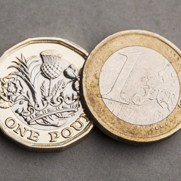 Pound losing value against the Euro