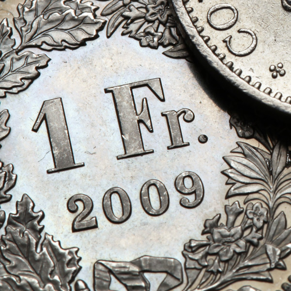 Domestic data contracts as Franc weakens