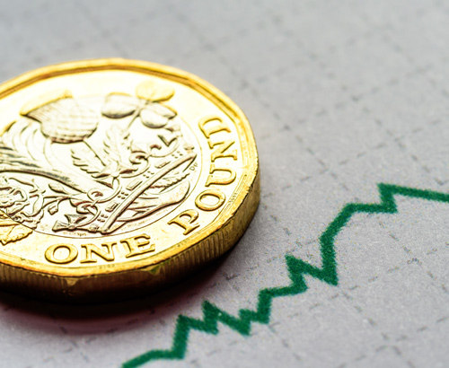 Sterling Rises to One Month High Against the Euro